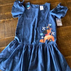 Cold shoulder denim dress. Disney. Moana. Size 7/8